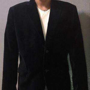 Men's H&M Navy Velvet Blazer